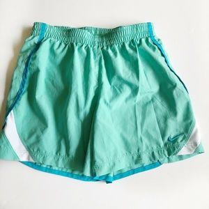 Nike Girls Running Shorts Medium Elastic Waist Tie